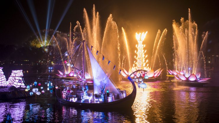 Majestic New Nighttime Show – Rivers of Light